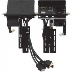 Kramer Electronics - TBUS-202XL(BC) - Kramer Dual Pop-Up Table Mount Multi-Connection Solution - 120 V AC / 5 A, 230 V AC Desktop