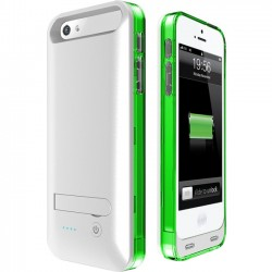 Mota / UNorth - AP5-30G - TAMO iPhone 5/5s Extended Battery Case - Green - iPhone - White, Clear, Green