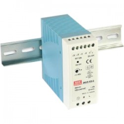IMC Networks - MDR-60-24 - B+B 60W Single Output Industrial DIN Rail Power Supply - 110 V AC, 220 V AC Input Voltage - DIN Rail - 88% Efficiency - 60 W
