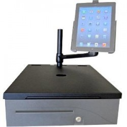 APG Cash Drawer - RKM-BL1616 - APG Cash Drawer Caddy Mounting Arm for Monitor - Black