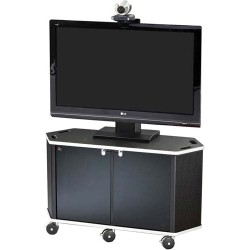 AVFI - PACKAGE-G - VFI PL3072 Cart with PM-S-XL Mount - 50 to 90 Screen Support - 220 lb Load Capacity - 82.5 Height x 55 Width x 21.3 Depth - Powder Coated Black - Steel, Metal, Acrylic - Black