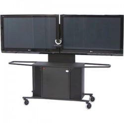 AVFI - PACKAGE-K - VFI Metal Plasma/LCD Cart - 42 to 70 Screen Support - 280 lb Load Capacity - 1 x Shelf(ves) - 64 Height x 80 Width x 23.8 Depth - Powder Coated Black - Metal, Steel, Acrylic - Black