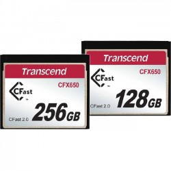 Transcend - TS128GCFX650 - Transcend 128 GB CFast Card - 500 MB/s Read - 250 MB/s Write - 1 Card - 650x Memory Speed
