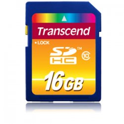 Transcend - TS16GSDHC10 - 16GB SDHC10 Secure Digital High Capacity (SDHC) Card - Class 10