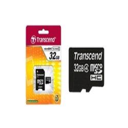 Transcend - TS32GUSDHC4 - Transcend TS32GUSDHC4 32 GB microSDHC - Class 4 - 1 Card