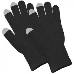 Amzer - AMZ92804 - Amzer Capacitive Touch Screen Knit Gloves-Black - Woven - Black - For Touchscreen Device