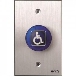 HES / Assa Abloy - 916-MO X 28 - RCI 916-MO Push Button - Blue - Aluminum