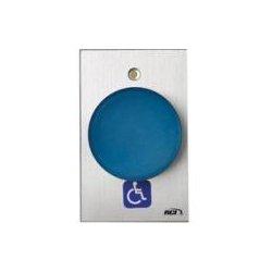 HES / Assa Abloy - 990H-TD X 28 - RCI 990H-TD X 28 Push Button - Blue - Aluminum