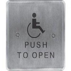 HES / Assa Abloy - 946HP45-MO X 32D - RCI 946HP45 Push Button - Stainless Steel, Aluminum - For Handicap Area, Vandal Prone Area, Vestibule, Store, Commercial, Industrial, Healthcare