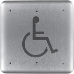 HES / Assa Abloy - 946H475-MO X 32D - RCI 946H475 Push Button - Stainless Steel, Aluminum - For Handicap Area, Vandal Prone Area, Vestibule, Store, Commercial, Industrial, Healthcare