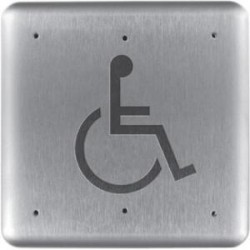 HES / Assa Abloy - 946H6-MO X 32D - RCI 946H6 Push Button - Stainless Steel, Aluminum - For Handicap Area, Vandal Prone Area, Vestibule, Store, Commercial, Industrial, Healthcare
