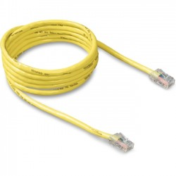 Belkin - A3L781-10-YLW - Belkin Cat. 5e Patch Cable - RJ-45 Male - RJ-45 Male - 10ft - Yellow