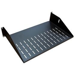 "AVFI - 9031-2 - VFI Utility Vented Shelf - 19"" 2U Wide Rack-mountable - Black - 50 lb x Maximum Weight Capacity"