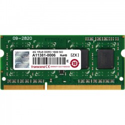Transcend - JM1600KSH-4G - Transcend 4GB JM DDR3 1600 SO-DIMM 1Rx8 - 4 GB (1 x 4 GB) - DDR3 SDRAM - 1600 MHz DDR3-1600/PC3-12800 - 204-pin - SoDIMM