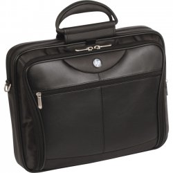 "Hewlett Packard (HP) - PA845A - HP Carrying Case for 17"" Notebook - Black - Damage Resistant Interior - Nylon, Leather - 5.6"" Height x 15"" Width x 17.8"" Depth"