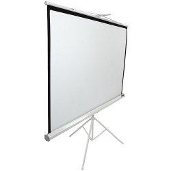 "Elite Screens - T120NWV1 - Elite Screens T120NWV1 Tripod Portable Tripod Manual Pull Up Projection Screen (120"" 4:3 Aspect Ratio) (MaxWhite) - 72"" x 96"" - MaxWhite - 120"" Diagonal"