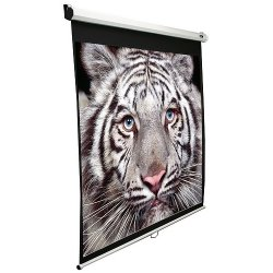 "Elite Screens - M84XWH-E30 - Elite Screens M84XWH-E30 Manual Ceiling/Wall Mount Manual Pull Down Projection Screen (84"" 16:9 Aspect Ratio) (MaxWhite) - 41"" x 73"" - Matte White - 84"" Diagonal"