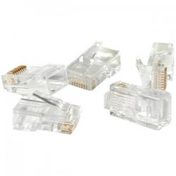 C2G (Cables To Go) - 01921 - C2G RJ22 4x4 Modular Plug for Flat Stranded Cable - RJ-22