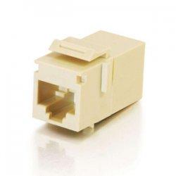 C2G (Cables To Go) - 03674 - C2G RJ45 (8P8C) Coupler Keystone Insert Module - Ivory - 1 x RJ-45 Female - 1 x RJ-45 Female - Ivory