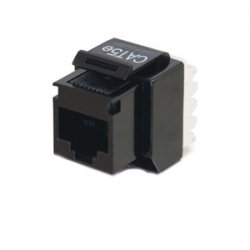 C2G (Cables To Go) - 03793 - C2G Cat5E RJ45 UTP Keystone Jack - Black - 110-punchdown, RJ-45