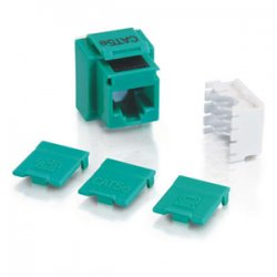 C2G (Cables To Go) - 03797 - C2G Cat5E RJ45 UTP Keystone Jack - Green - 110-punchdown, RJ-45