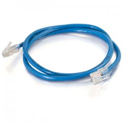C2G (Cables To Go) - 24499 - 5ft Cat5e Non-Booted Crossover Unshielded (UTP) Network Patch Cable - Blue - Category 5e for Network Device - RJ-45 Male - RJ-45 Male - Crossover - 5ft - Blue
