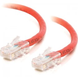 C2G (Cables To Go) - 25269 - C2G-1ft Cat5e Non-Booted Unshielded (UTP) Network Patch Cable - Red - Category 5e for Network Device - RJ-45 Male - RJ-45 Male - 1ft - Red