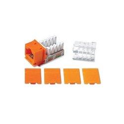 C2G (Cables To Go) - 29315 - C2G Cat6 RJ45 UTP Keystone Jack - Orange - RJ-45, 110-punchdown