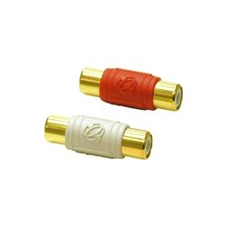 C2G (Cables To Go) - 29513 - C2G 2-Piece RCA Dual Channel Audio Coupler - 2 Pack - 1 x RCA Female - 1 x RCA Female - Red, White