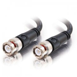 C2G (Cables To Go) - 40024 - C2G 1ft 75 Ohm BNC Cable - BNC Male - BNC Male - 1ft - Black