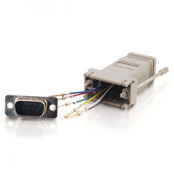 C2G (Cables To Go) - 02920 - C2G RJ12 to DB9 Male Modular Adapter - 1 x RJ-12 - 1 x DB-9 Male Serial - Gray