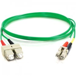 C2G (Cables To Go) - 37352 - C2G-3m LC-SC 50/125 OM2 Duplex Multimode PVC Fiber Optic Cable - Green - Fiber Optic for Network Device - LC Male - SC Male - 50/125 - Duplex Multimode - OM2 - 3m - Green