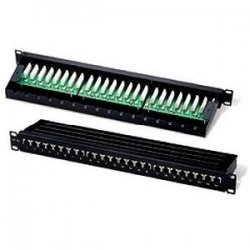 C2G (Cables To Go) - 03864 - C2G 24-Port Cat5E Shielded High density Patch Panel - 24 x RJ-45