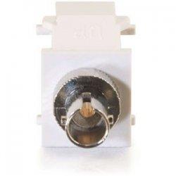 C2G (Cables To Go) - 03825 - C2G Snap-In ST Fiber F/F Keystone Insert Module - White - White