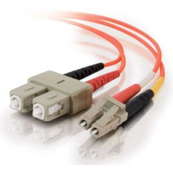C2G (Cables To Go) - 13525 - C2G 15m LC-SC 62.5/125 OM1 Duplex Multimode PVC Fiber Optic Cable (USA-Made) - Orange - Fiber Optic for Network Device - LC Male - SC Male - 62.5/125 - Duplex Multimode - OM1 - USA-Made - 15m - Orange