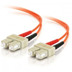 C2G (Cables To Go) - 13552 - C2G 8m SC-SC 62.5/125 OM1 Duplex Multimode PVC Fiber Optic Cable (USA-Made) - Orange - Fiber Optic for Network Device - SC Male - SC Male - 62.5/125 - Duplex Multimode - OM1 - USA-Made - 8m - Orange