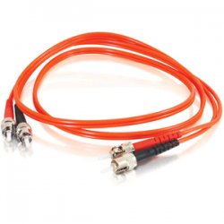 C2G (Cables To Go) - 13587 - C2G 30m ST-ST 62.5/125 OM1 Duplex Multimode PVC Fiber Optic Cable (USA-Made) - Orange - Fiber Optic for Network Device - ST Male - ST Male - 62.5/125 - Duplex Multimode - OM1 - USA-Made - 30m - Orange