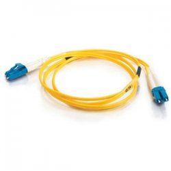 C2G (Cables To Go) - 14401 - C2G 2m LC-LC 9/125 OS1 Duplex Singlemode PVC Fiber Optic Cable (USA-Made) - Yellow - Fiber Optic for Network Device - LC Male - LC Male - 9/125 - Duplex Singlemode - OS1 - USA-Made - 2m - Yellow