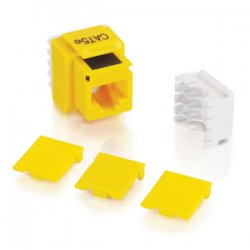 C2G (Cables To Go) - 03798 - C2G Cat5E RJ45 UTP Keystone Jack - Yellow - 110-punchdown, RJ-45