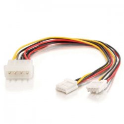 C2G (Cables To Go) - 03165 - C2G 10in One 5-1/4in to Two 3-1/2in Internal Power Y-Cable - 10""