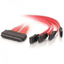 C2G (Cables To Go) - 10248 - C2G 0.5m SAS 32-pin to Four SATA Cable - SAS - SATA - 1.64ft - Red