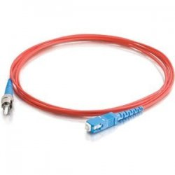 C2G (Cables To Go) - 33396 - 2m SC-ST 9/125 OS1 Simplex Singlemode PVC Fiber Optic Cable - Red - Fiber Optic for Network Device - SC Male - ST Male - 9/125 - Simplex Singlemode - OS1 - 2m - Red