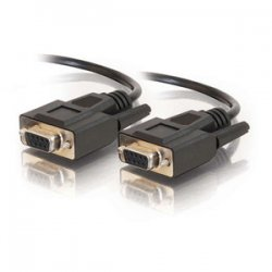 C2G (Cables To Go) - 52037 - C2G 15ft DB9 F/F Cable - Black - DB-9 Female - DB-9 Female - 15ft - Black