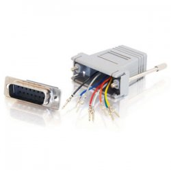C2G (Cables To Go) - 02926 - C2G RJ45 to DB15 Male Modular Adapter - 1 x RJ-45 - 1 x DB-15 Male Serial - Gray
