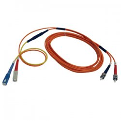 Tripp Lite - N420-03M - Tripp Lite 3M Fiber Optic Mode Conditioning Patch Cable SC/ST 10' 10ft 3 Meter - ST Male - SC Male - 9.84ft - Orange, Yellow