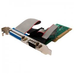 Perle Systems - 04003220 - Perle SPEED1 LE1P 1-Port PCI Serial Parallel Card - 1 x 25-pin DB-25 Female Parallel, 1 x 9-pin DB-9 Male Serial