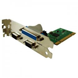 Perle Systems - 04003240 - Perle SPEED2 LE1P 2-Port PCI Serial Parallel Card - 1 x 25-pin DB-25 Female IEEE 1284 Parallel, 2 x 9-pin DB-9 RS-232 Serial