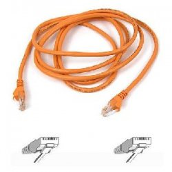 Belkin / Linksys - A3L791-10-ORG - Belkin Cat. 5E UTP Patch Cable - RJ-45 Male - RJ-45 Male - 10ft - Orange