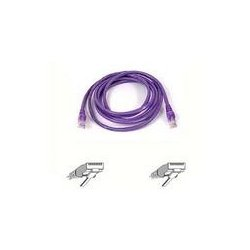 Belkin / Linksys - A3L791-05-PUR-S - Belkin - Patch cable - RJ-45 (M) to RJ-45 (M) - 5 ft - UTP - CAT 5e - booted, snagless - purple - B2B - for Omniview SMB 1x16, SMB 1x8, OmniView IP 5000HQ, OmniView SMB CAT5 KVM Switch