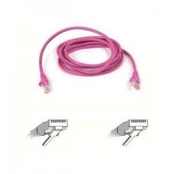 Belkin / Linksys - A3L791-07-PNK-S - Belkin Cat5e Patch Cable - RJ-45 Male Network - RJ-45 Male Network - 7ft - Pink